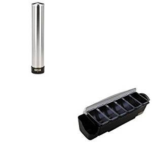 KITSJMBD4006SSJMC3400P - Value Kit - San Jamar The Dome Bar Garnish amp;amp; Straw/Stick Dispenser (SJMBD4006S) and San Jamar Large Water Cup Dispenser w/Removable Cap (SJMC3400P)