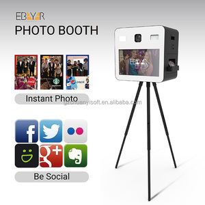 18.5-42 Inch mirror photo booth mini advertising monitor customize photo printing kiosk OEM vending portable photo booth