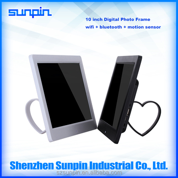 10 inch chinese wifi digital photo frame with video mp3 free download - Wifi Digital Frame