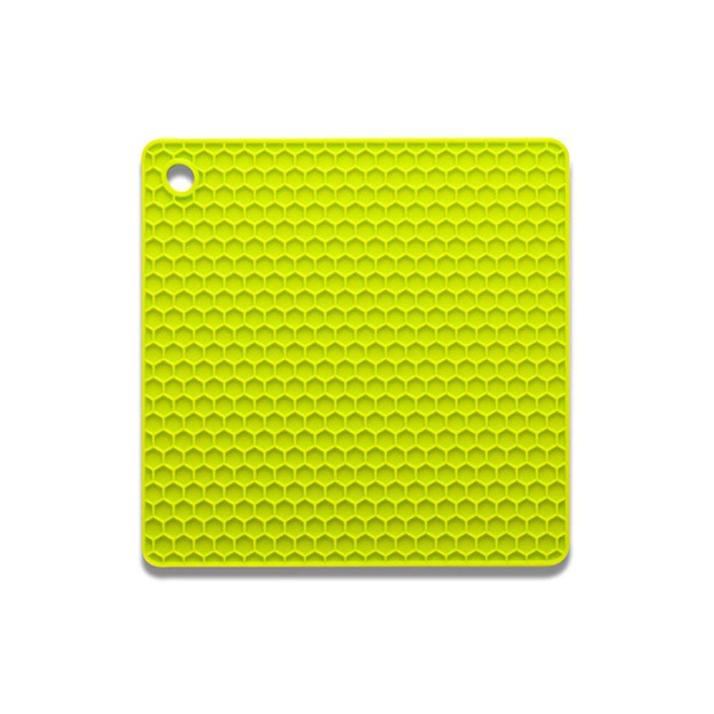 HOBOYER Silicone Table Mats Soft Non-Slip Honeycomb Grid Waterproof Heat Resistant Liner Oven Pad for Kids Foods Mats Free FDA[7272inch] (Light Green)