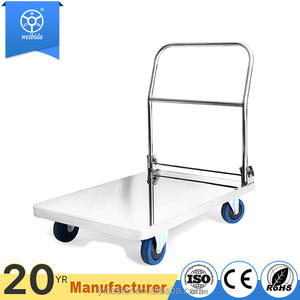 WBD 440lbs load tool platform cart stainless steel trolley