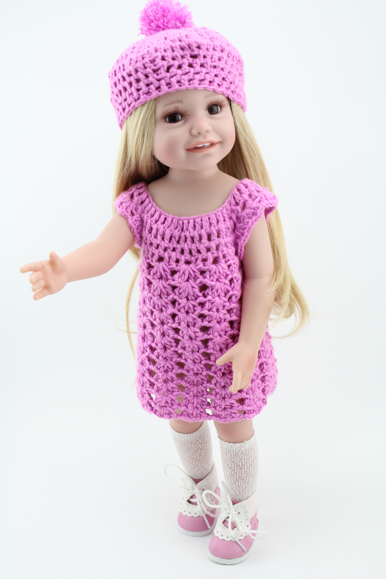 Buy vinyl princess 45cm girl doll 18 inch cute realistic baby recommended for you negle Choice Image