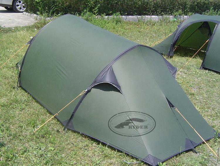 प्रथम श्रेणी के गुणवत्ता सैन्य लक्जरी सुरंग आर्मी ग्रीन तम्बू Backpacking डेरा डाले हुए गियर एकल Siliconized नायलॉन