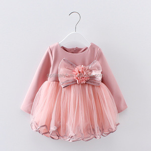 Hot Sale One Piece Baby Girl Child Dress Puffy Party Wear Dress