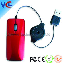 VMM-21 Fancy USB Optical Wired Mini Mouse with Retractable Cable