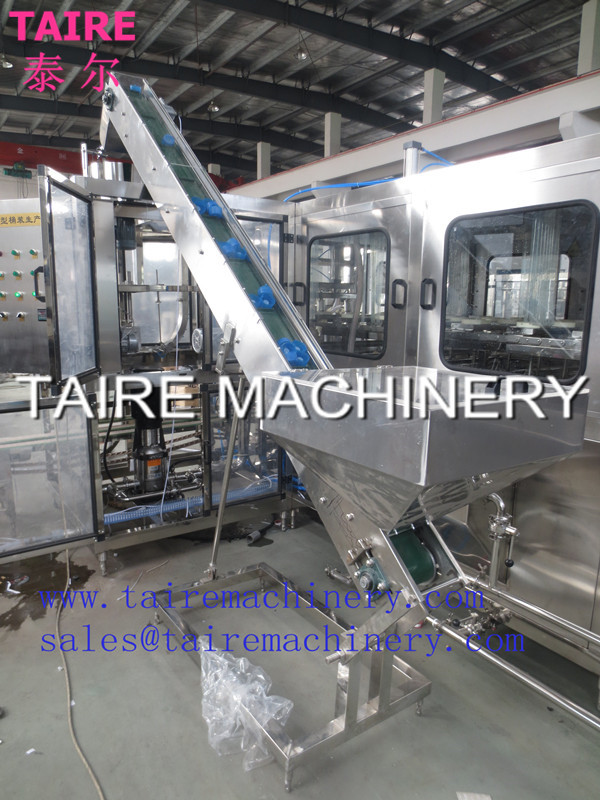 automatic 19L/5 gallon bottle cap loader/ elevatorr--taire machinery