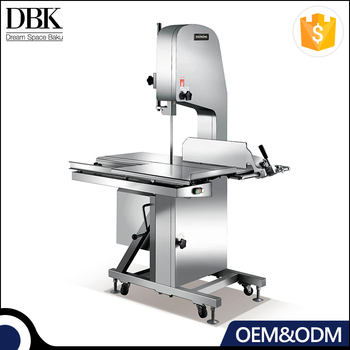 Firm durable Kitchen two working tables big wheel design bone sawing machine