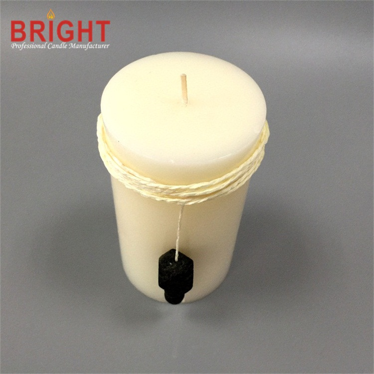 Advent white lily decoration wax candle for sale