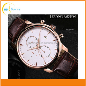 high quality stainless steel case luxury waterproof fastrack wrist watch for men