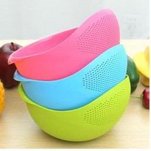 Colorful new high-quality plastic wash rice Kitchen Taomi device Drain vegetables basket basket fruit and vegetable rack multi-p