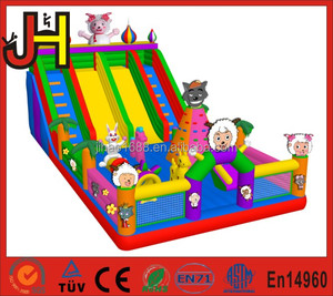 Happy Pleasant Goat Inflatable Fun City Slide, Inflatable Jumping Amusement Park