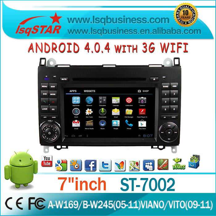 Wholesale Car DVD for Mercedes Benz W169 W245/ Viano/ Vito/ Sprinter Android 4.0 System Car PC with 3G WIFI full functions