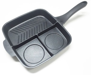 Innovation Three Sections Divided Non stick Master Frying Pan