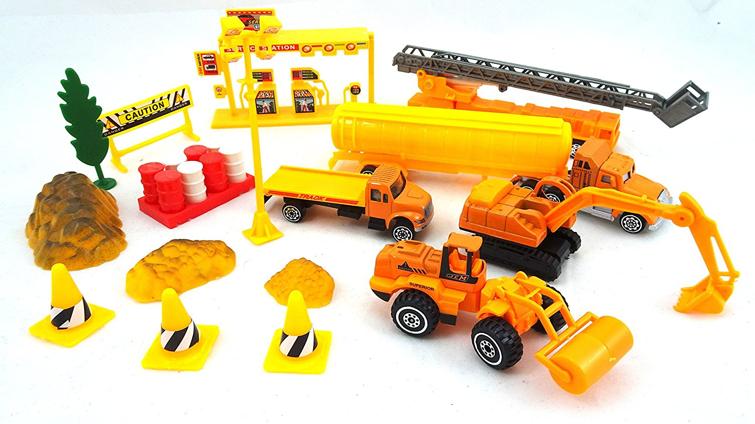 a55429dfa Buy Die Cast Construction Crew Play Set - Includes Toy Trucks ...