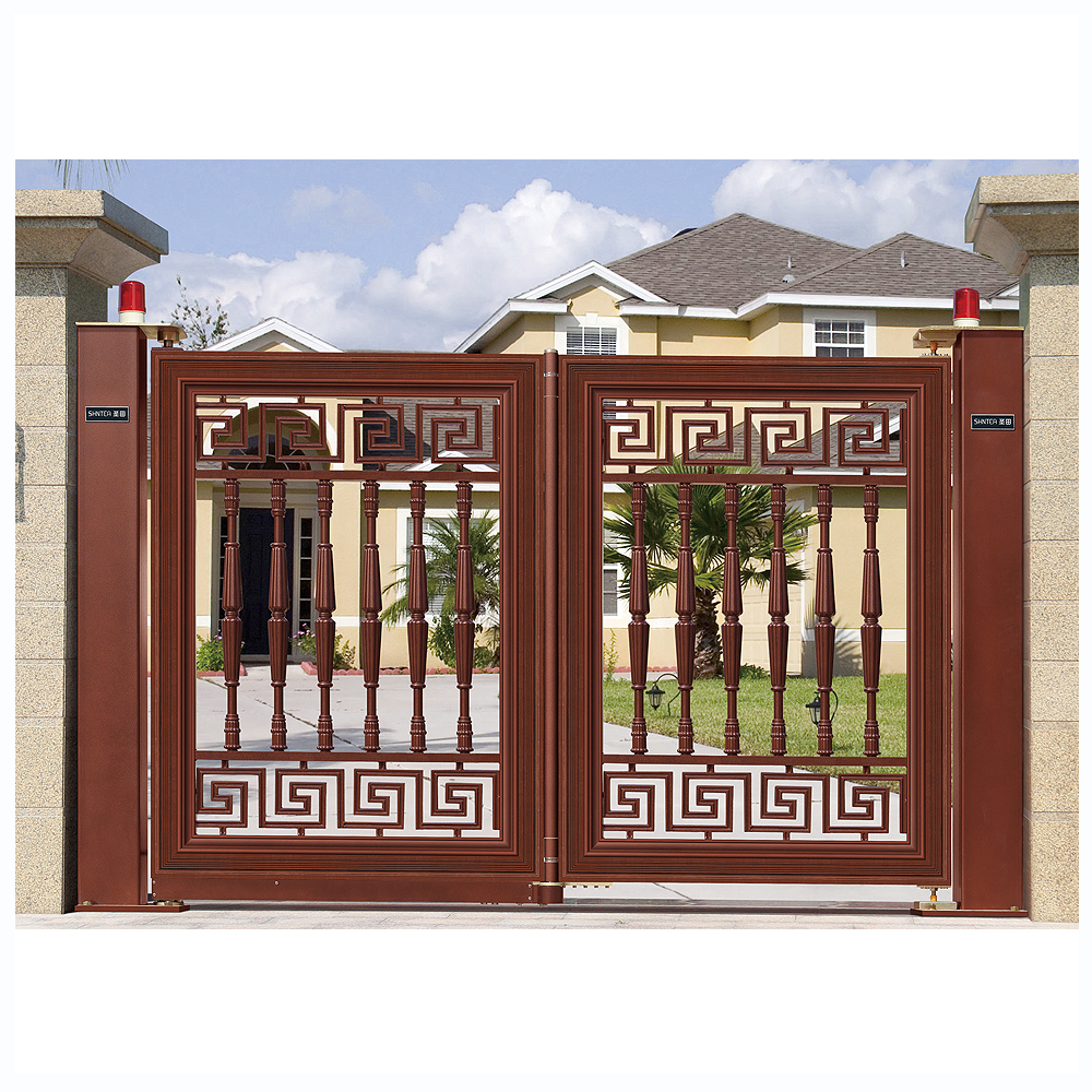 aluminum home design automated swing gate