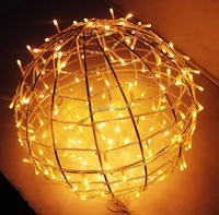 3D Christmas Light Outdoor Ball, Led Motif Ball Hanging Decoration Lights Shopping Mall Street Commercial Decoration