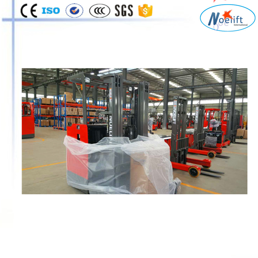 hardware making machine environmental protection 2 ton stand Electric Stacker reach truck Battery forklifts Reach Lift Truck