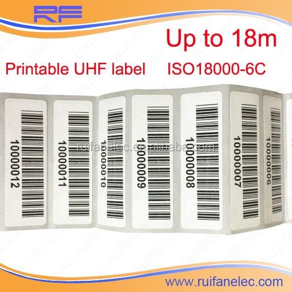 Long Range Cheap Price Programmable Clothing Passive UHF RFID Sticker Tag