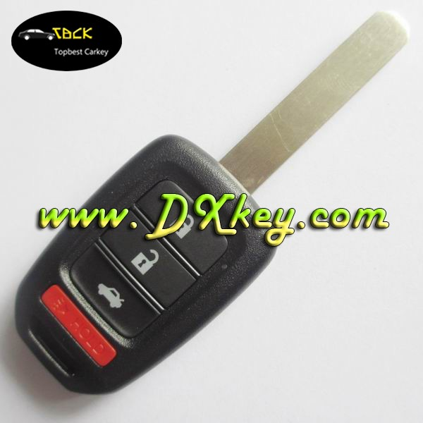 Good quality 2014 USA style 3+1 buttons car remote key 313.8mhz with logo for car key replacement