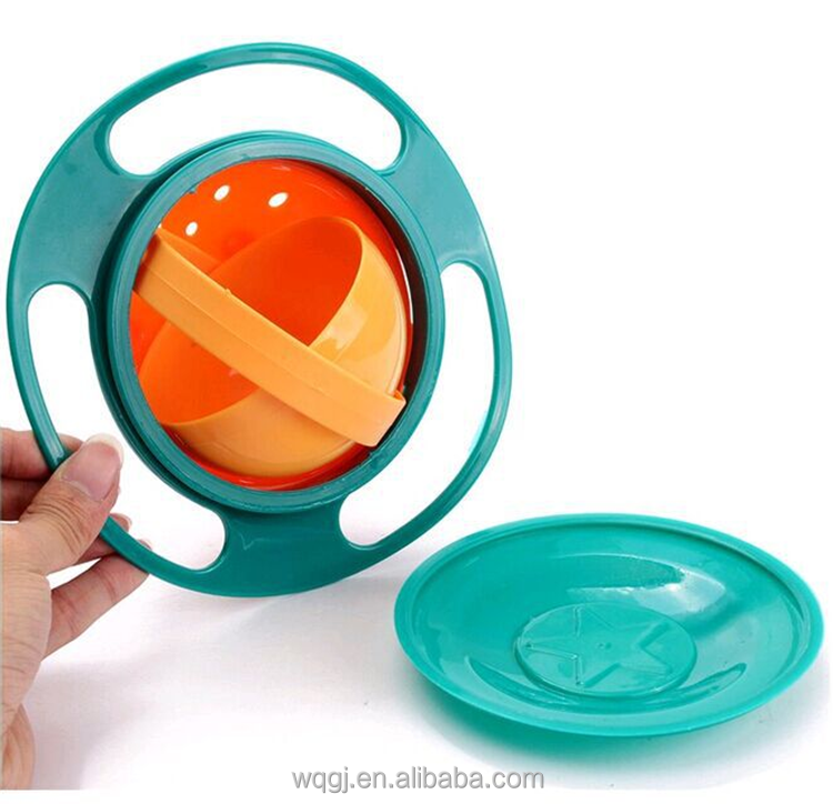 Kid Eating 360 Degrees Rotating UFO Bowl Baby Universal Gyro Bowl As See On TV