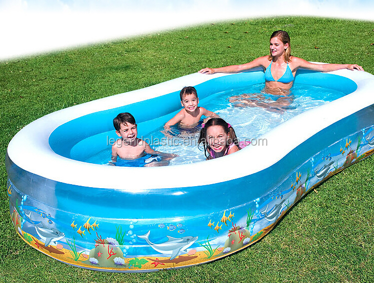 Best Swimming Pools Product : Inflatable gaint figure family swimming pool pvc
