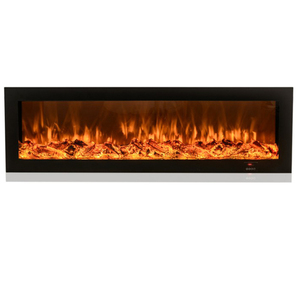 Wall Mounted Smart APP 3D Flame Brightness Adjustable Remote Control Thermostat Liner LED Electric Fireplace