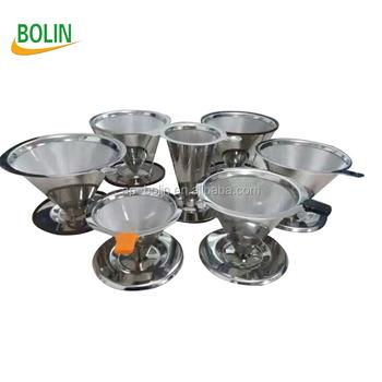 Coffee Pour Over Cone Filter Dripper For Chemex Hario Bodum