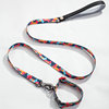 Sublimation Polyester Dog Leash And Collar Training Collar Shock Remote Dog Leash And Collar
