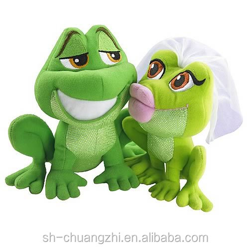 Wholesale factory FAMA valentine's day Princess and the Frog Magic Kiss Plush Gift Set stuffed toys
