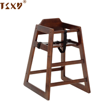 European restaurant solid beech wooden baby feeding eating chair