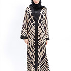 Muslim abaya women long dress knitting cotton sunday clothes