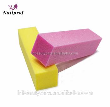 Multi Function Nail Shiny Emery Board File Sponge Pink Buffer