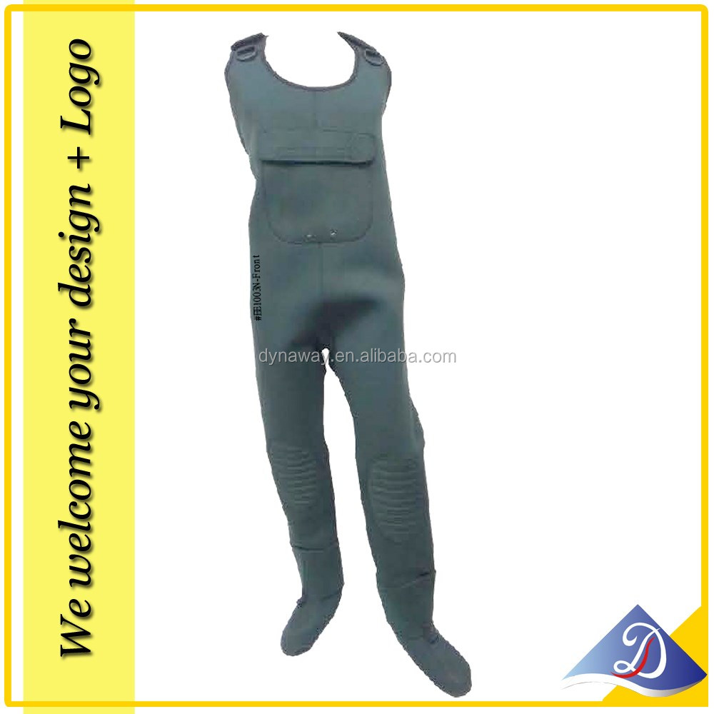 Neoprene Stocking foot full body wader in green color, custom made design available!