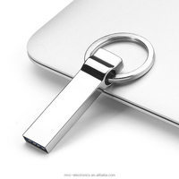 Hot selling promotional gift customized laser etching logo USB 3.0 interface 8GB metallic keychain shape usb flash drive