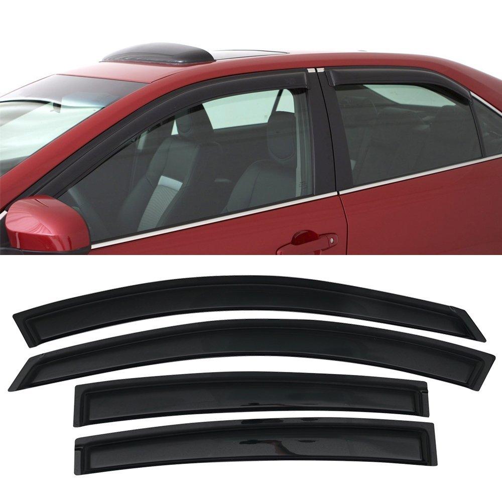 Sizver Smoked Window Visors//Wind Rain Deflector Rain Guard for 2008-2013 Nissan Rogue S SV ^Outside Mount Visor^ SL