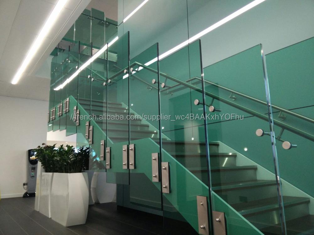 Top Extérieur moderne sans cadre en verre trempé balcon balustrade en  AM67