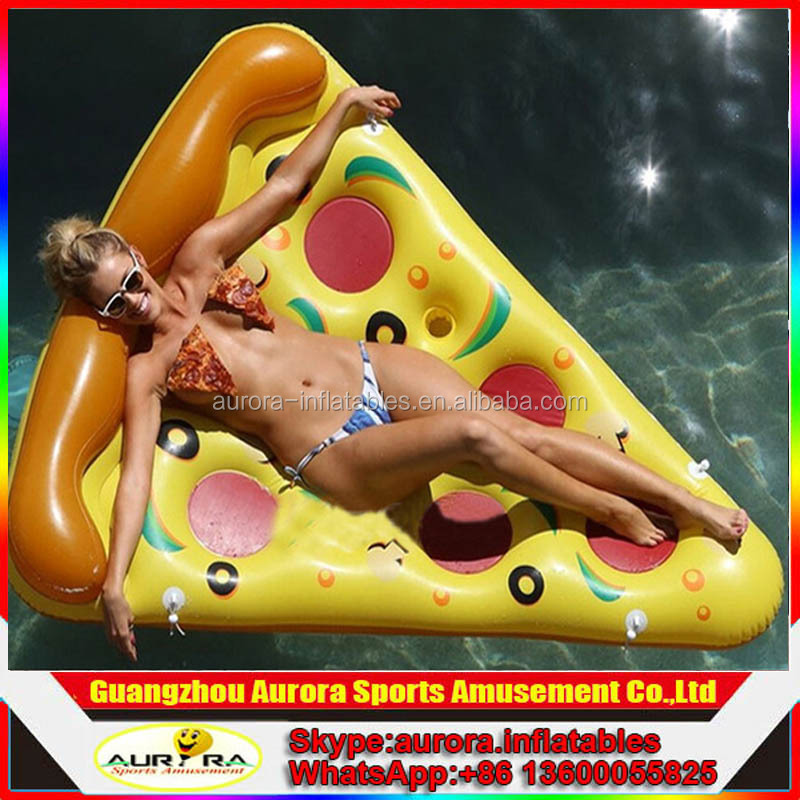 Factory lower price air bed inflatable pizza with colorful design