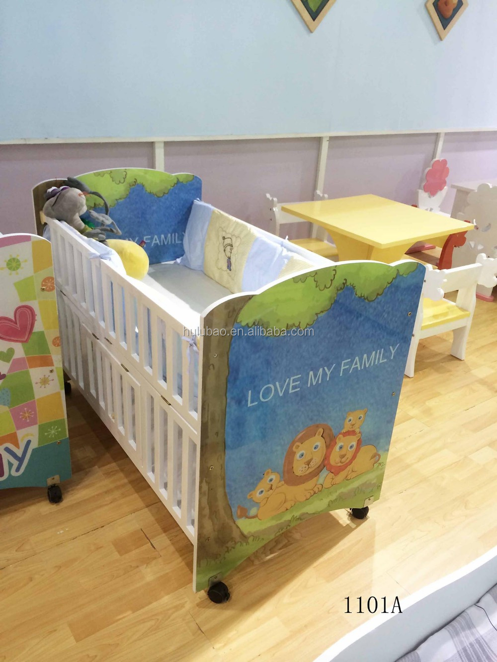 Cheap Baby Bedroom Furniture Sets: 2015 Baby Bed Baby Cribs Used Daycare Furniture #1101a
