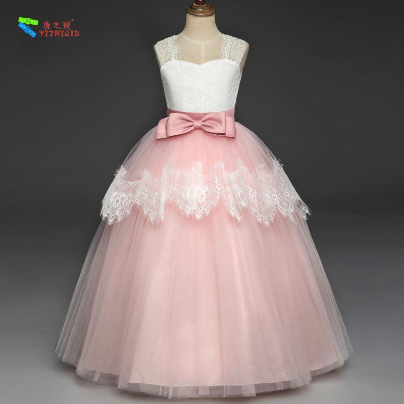 YIZHIQIU Princess Buds Tutu Embroidered Party Wedding Girl Dress