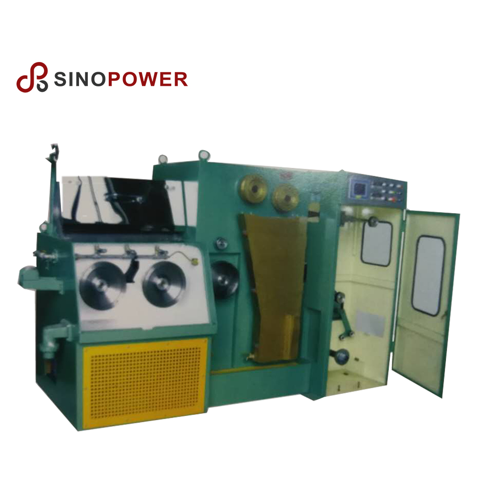 Small very fine copper wire drawing machine with annealing machine