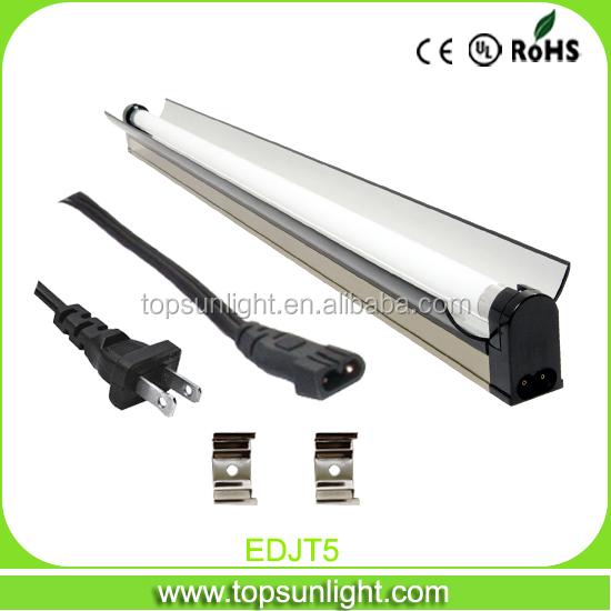 t5 24w 2ft grow lighting t5 fluorescent light t5 single tube fixture nano reflector