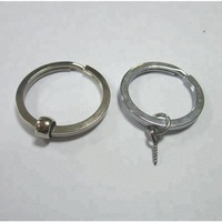 stainless steel 28 mm round wire split key ring for wholesale