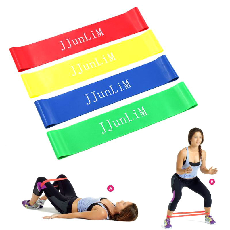 b8a4ac2e25e 4 Levels Pilates Yoga Rubber Resistance Bands Fitness LOOP rope Stretch  Band Crossfit elastic resistance band for bodybuilding