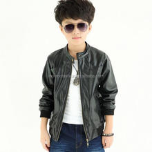 monroo Autumn Winter Kids Boys New Design Cool Thick Motorcycle Leather Jacket