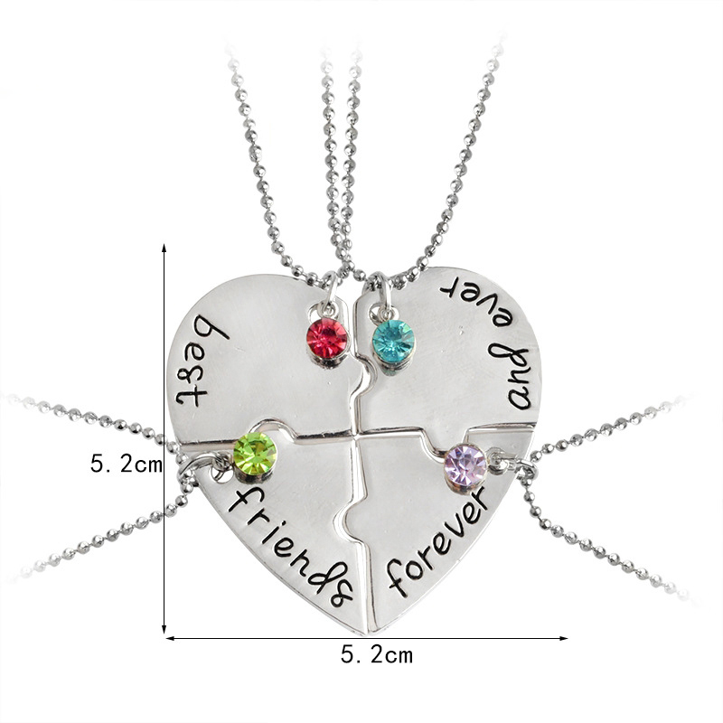 192a4b0ad839 Aleación de cobre joyería amistad alfabeto colgante carta collares joyas ...