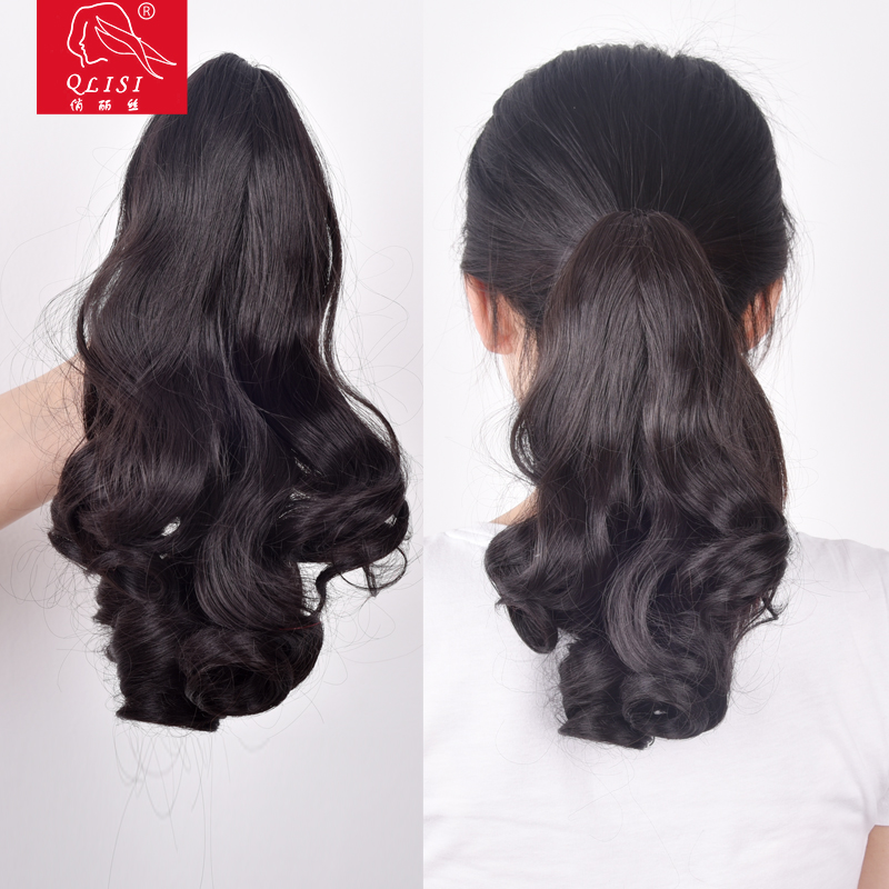 Alibaba sign in heat assistant fiber hair hair weave for black women body wave Double Drawn claw clip hair pieces
