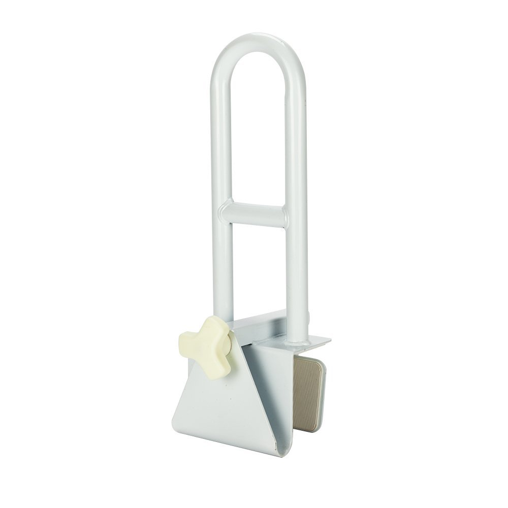 Mefeir 300LBS Anti-slip Bathroom Bathtub Grab Rail Handrail Medical Steel Clamp,Safety Rail for Elderly, Seniors, Handicap and Disabled Gray (Normal)