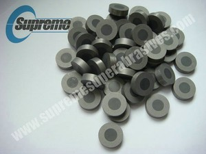 PCD wire drawing die blanks - tungsten carbide supported diamond die blanks