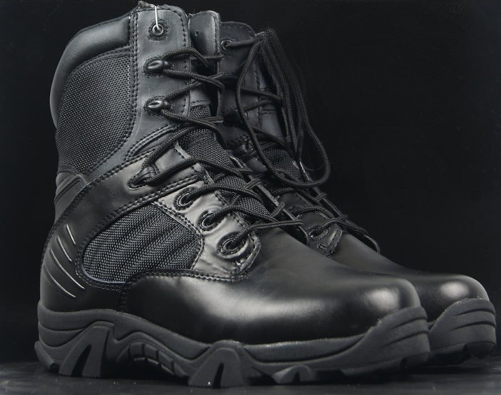 Loveslf 2015 new style high quality mens Commando Combat Boots military shoes Leather boots