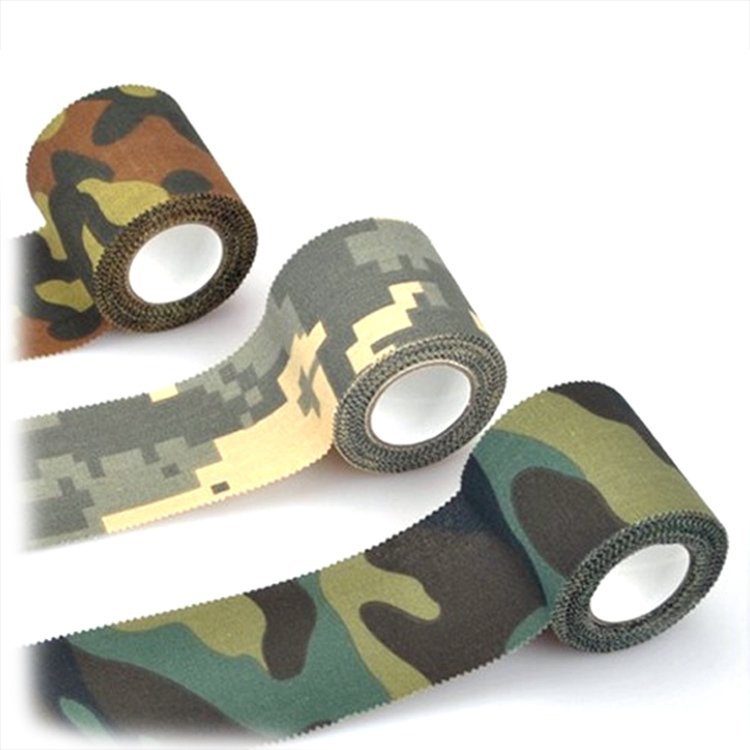 Smartrich Outdoor camouflage non-woven self-adhesive elastic bandage 2.5CM X 4.5M camouflage waterproof multi-functional bandage